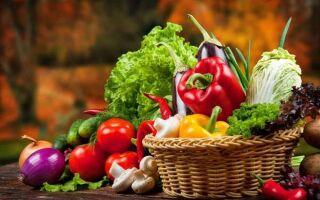 Таблица сезонных овощей
