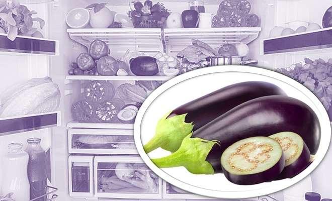 баклажаны в холодилнике
