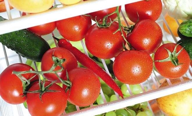 томаты в холодильнике
