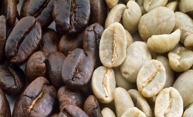 кофе зеленый и обжаренный
