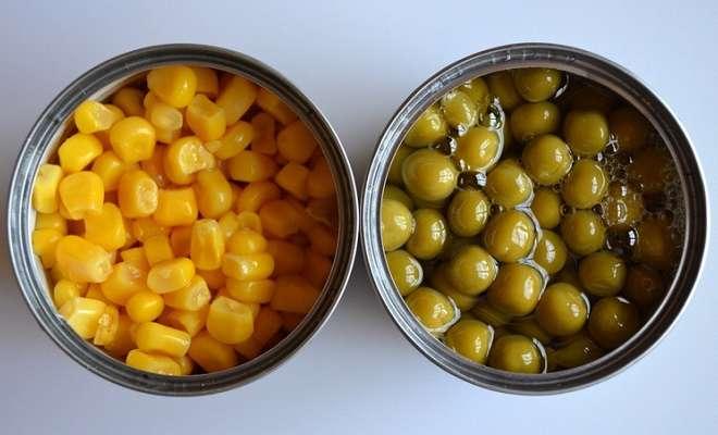 горошек и кукуруза консервированные