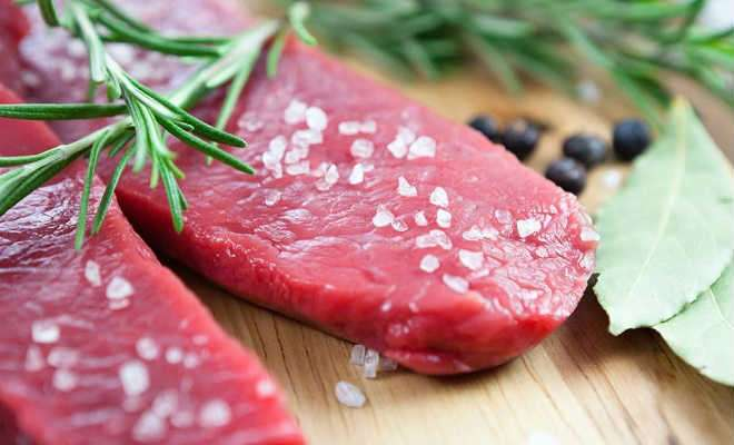 мясо в соли