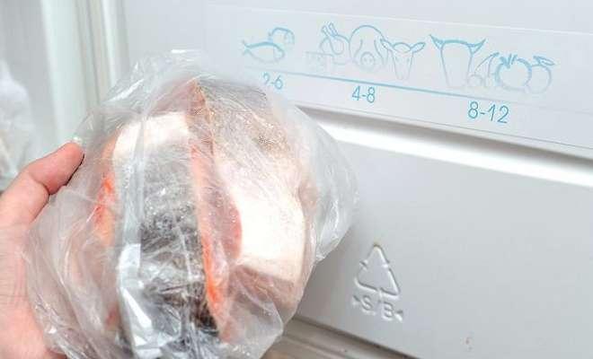 рыба в морозильнике