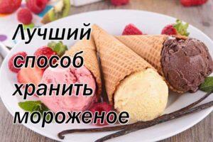 Лучший способ хранить мороженое